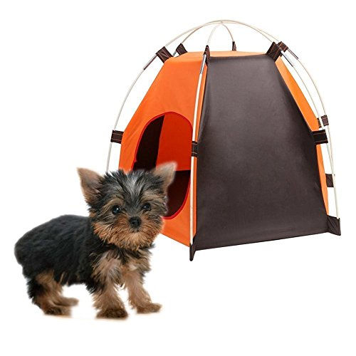 Pet House Folding Cat Dog House Portable Waterproof Pet Tent Indoor & Outdoor Small Animals Shelter Lovely for Small Dog and Cat by ZMVA (Image #2)