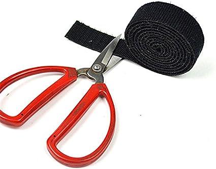 30mm x 5m y 20mmx 5m, 2 Rollos Shineus 10m Doble lado Cable Tie Gancho de rollo y Cinta de la cinta Envuelve el cable de alambre Correa de corbata Cinta de sujeci/ón
