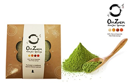 Onzen Konjac Sponge All Natural Japanese Facial Sponge with Green - Fake Persol