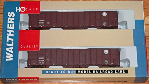 (WALTHERS 932-24062 61' Wood CHIP CAR 2-Pack BNSF)