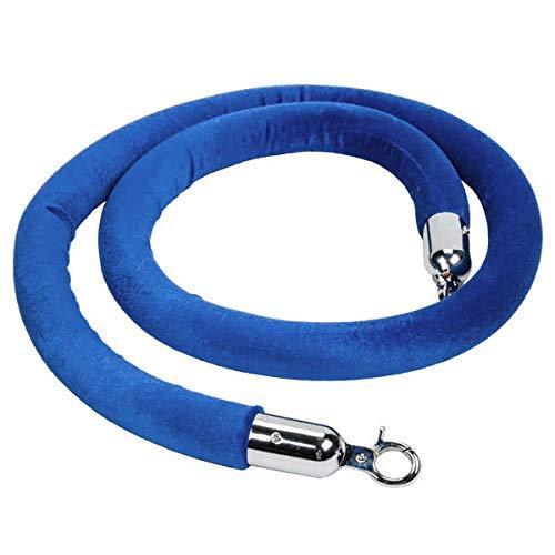 PRE Sales 9449 Royal Blue Velour Stanchion Rope, 72
