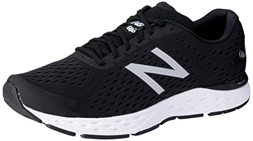 - New Balance Men's 680v6 Cushioning Running Shoe, Black/Silver Metallic/White, 8 4E US