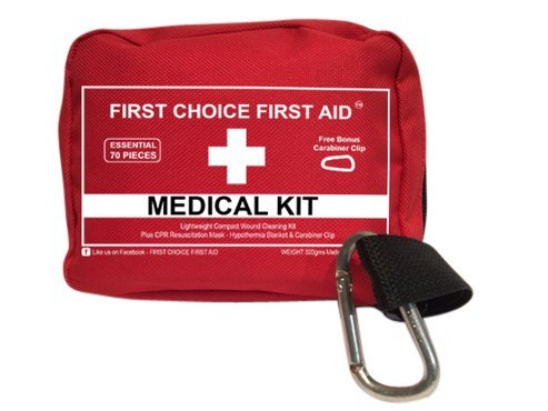 FIRST AID KIT SURVIVAL PERSONAL WATERPROOF MEDICAL BAG Emergency - Best Quality Small Lightweight ER Medic Pouch for Wound Trauma Outdoors Travel Sports Fishing Camping Bike Auto Home Emergency