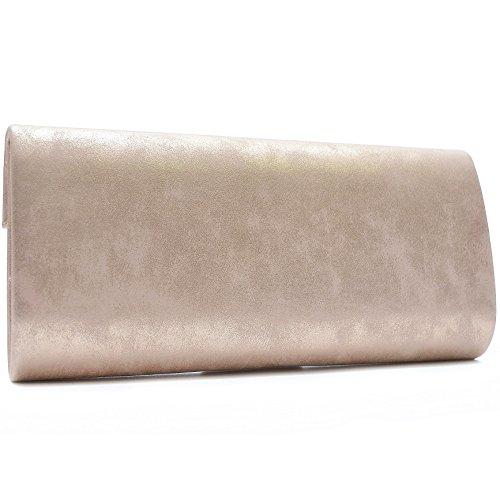 Vain Secrets Damen Umhänge Taschen Abendtasche Clutch in vielen Farben Champagne AZaVRMCo