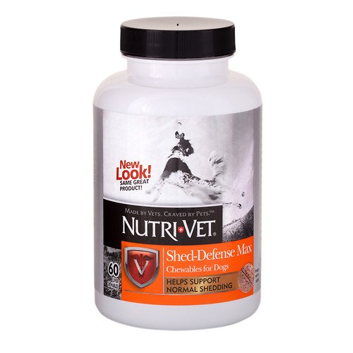 Nutri-Vet Max Chewables for Dogs, SHED-DEFENSE 60 ea (3 Pack) ()