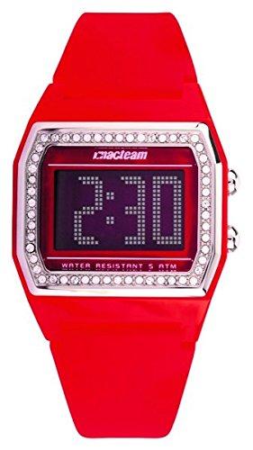 Altanus - Reloj digital con correa de goma rojo y caja con Swarovsky Altanus 7923-rb: Amazon.es: Relojes