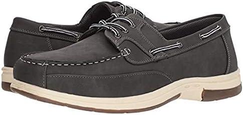 メンズスリッポン・ボートシューズ・靴 Mitch Boat Shoe Dark Grey Simulated Oiled Leather 26cm W (3E) [並行輸入品]