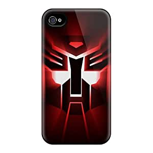 Durable Hard Phone Cases For Iphone 4/4s With Unique Design Trendy Autobots Logo Pattern LauraAdamicska