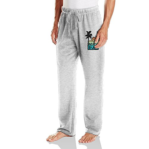 Caryonom Mens Beach Bum Sunshine Sweatpant Ash M