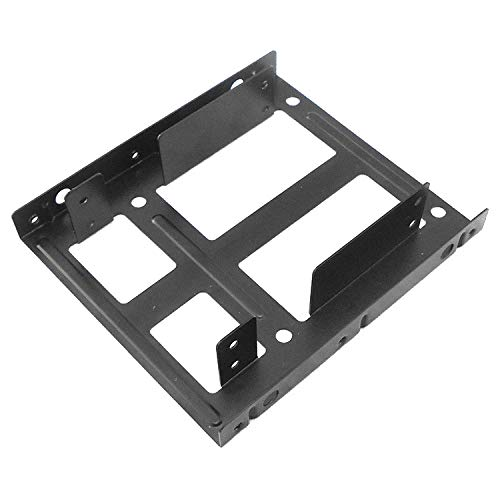 CAOMING SATA 2.5 inch to 3.5 inch Double Disk SSD Metal Bracket (Color : Black) by CAOMING