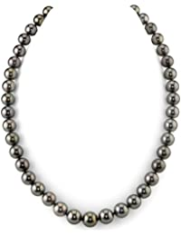 "14K Gold 8-10mm Peacock Tahitian South Sea Cultured Pearl Necklace - AAAA Quality, 20"" Length"