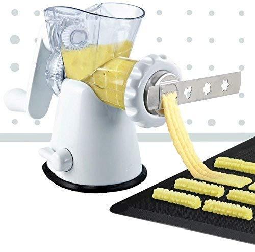 Manual Meat Mincer Grinder & Vegetable Shredder, Biscuit Machine Cookie Maker (White) by Konstar (Image #2)'