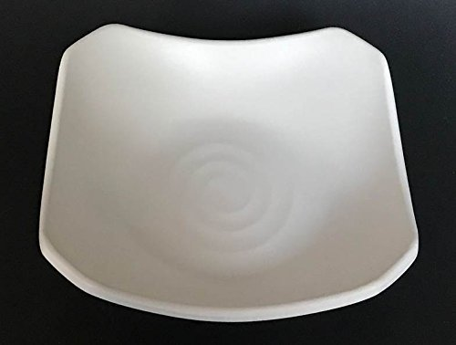 Lucky Star Melamine Square Side Dish Plate Set Snack Serving, 5.3 Inch, Off White, LJP Series (96)