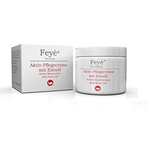 Feyè® Aktiv-Creme mit Emuöl – Bei trockener Haut, Psoriasis, Schuppenflechte, Ekzemen und rissiger Haut, Juckreiz, Rötung und Entzündung – Hautpflege-Salbe – Made in Germany
