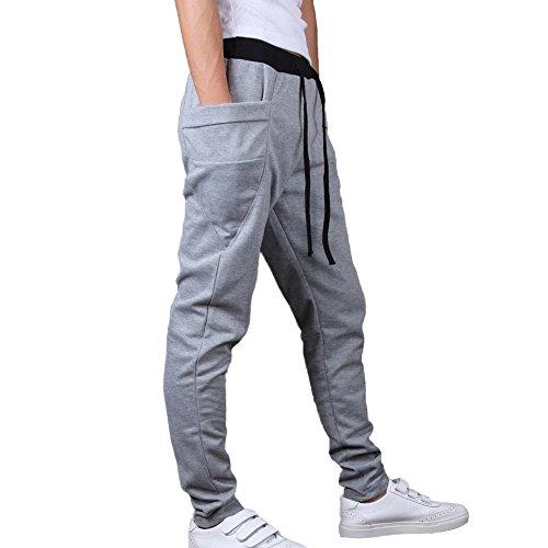 Fondo Tuta Jogging Release Grigio Allenamento Uomo Pantaloni Minetom Da Running Et4wfc