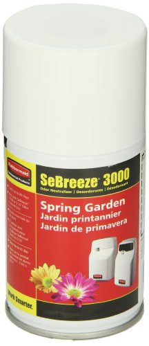 Sebreeze Fragrance Canister - Rubbermaid Commercial SeBreeze 3000 Series Spring Garden Fragrance Aerosol Canister for 5137 and 5169 Units (FG5138000000)