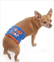 All Star Football Belly Band for Dogs - XXS (8\