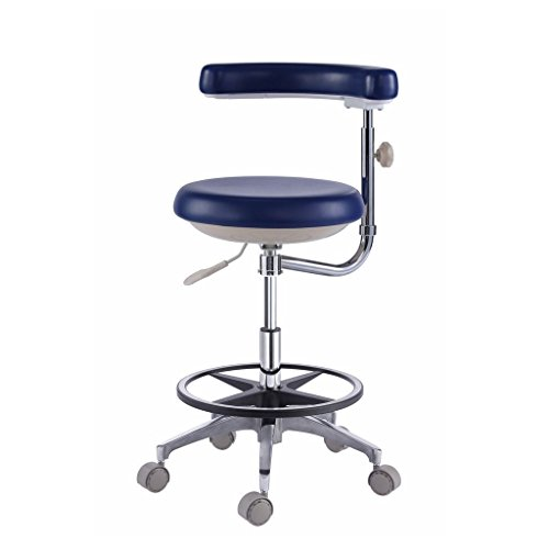 Super Dental Mobile Chair Surgical Nurse's Doctor Stool With Backrest PU Leather SD500 by Super Dental (Image #3)
