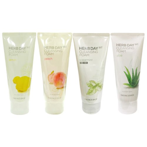 The Face Shop - Herb Day Cleansing Cleansing Foam (Lemon)170ml /Made in - Shop Face Herb