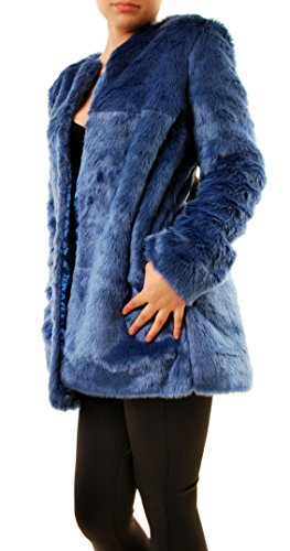 For Love & Lemons Women's Wanderlust Faux Fur Coat Blue Size L by For Love & Lemons (Image #3)