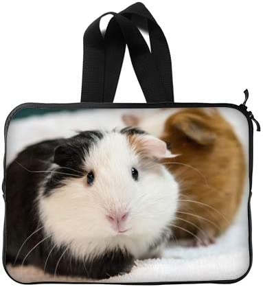 CustomLittleHome Black and White Guinea Pig Custom Lapotp Sleeves Bags 13 Art Printing Twin Sides