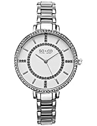Womens 5066.1 SoHo Quartz Crystal Accent Stainless Steel Watch