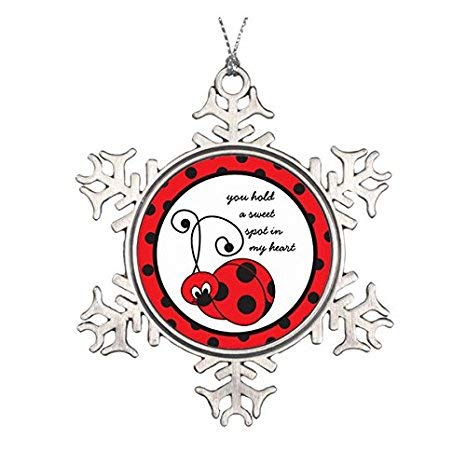 Itty Bitty Snowflakes - uniquepig Itty Bitty Ladybug Love Snowflake Ornaments Pewter Funny Christmas Tree Decorations Ornaments Novelty Xmas Gifts