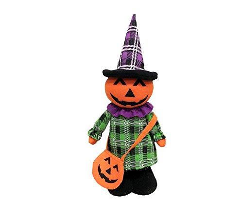 Halloween Doll Decoration Large Plush Toy Stretch Toy Tabletop Decoration for Halloween Theme Bedroom Living Room Office - Pumpkin -