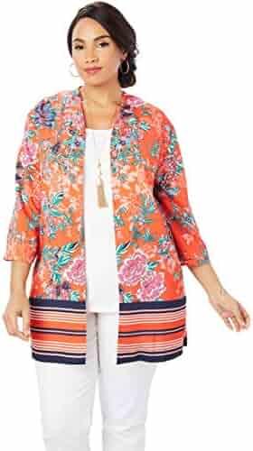 62c303f0b3c Jessica London Women s Plus Size Kimono Jacket