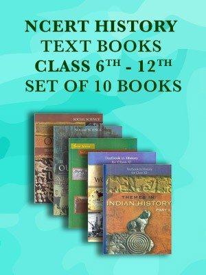 NCERT History Class 6 to 12 Text Books Set – English Medium