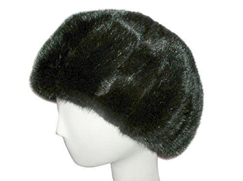 Vertical Cut Ranch Mink Bubble Beret S by FursNewYork