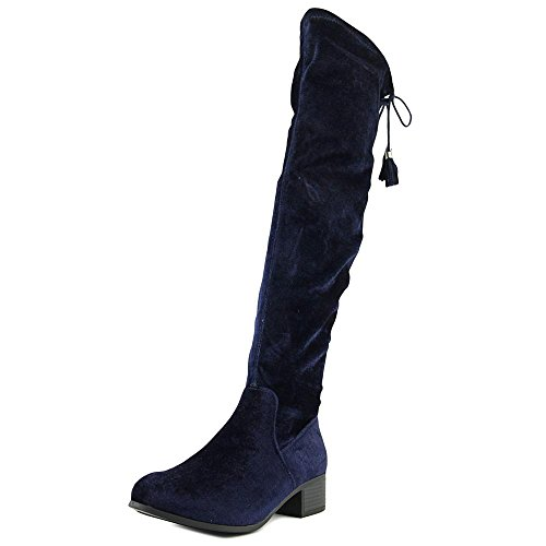 Madden Girl PRISSLEY, Fashion Stiefel Frauen, Geschlossener Zeh Navy Fabric