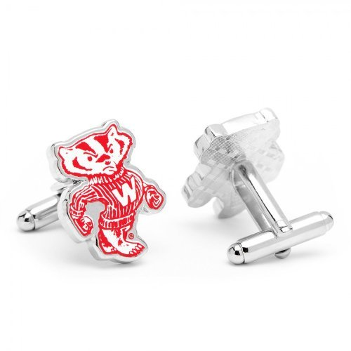 Vintage University of Wisconsin Badgers Cufflinks with New Collectible Gift Box