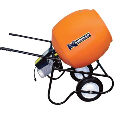 Wheelbarrow Mixer, 6 cu ft, 115V, 3/4HP