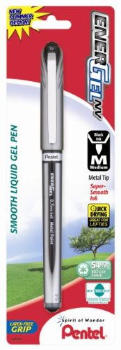 (Pentel EnerGel NV Liquid Gel Pen, 0.7mm, Metal Tip, Black Ink, 1 Pack (BL27BPA))