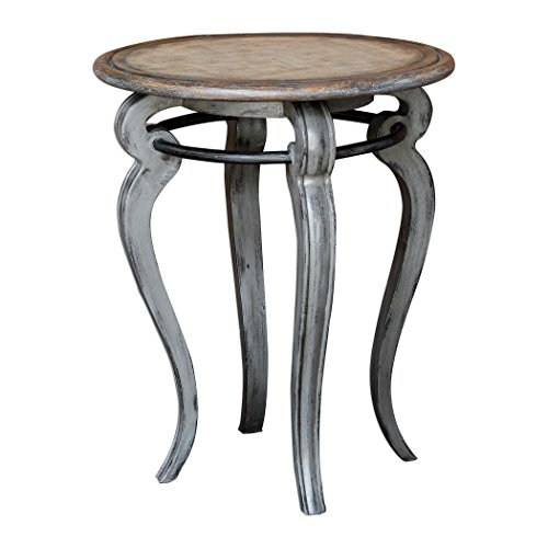 AR Lighting Mariah Round Gray Accent Table