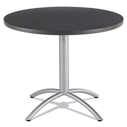 Iceberg 65628 CaféWorks Table, 36 dia x 30h, Graphite Granite/Silver by MOT