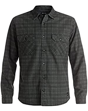 Men's Winner Flannel Long Sleeve Overshirt and HDO Travel Sunscreen (15 SPF) Spray Bundle