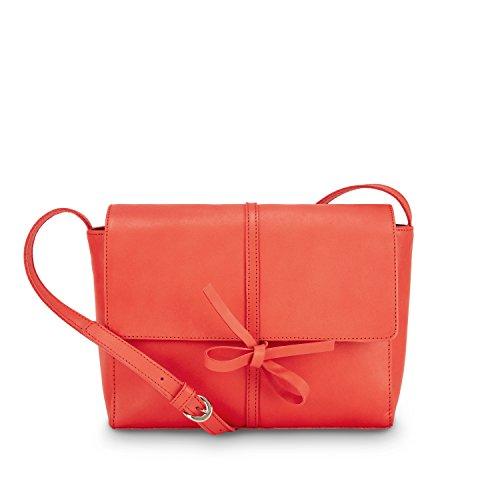 NINE TO FIVE Saddle Bag #fox lipstick red Rot
