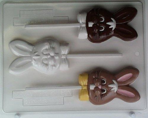 Bunny's head w/ buck teeth & bowtie E062 Easter Chocolate Ca