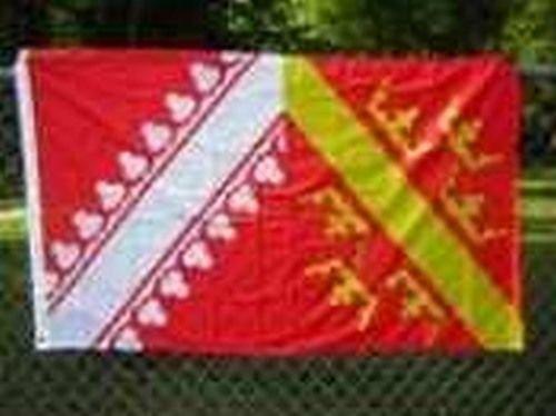 Be_Bra Flag of Alsace 3x5 ft Alsatian French Region France L