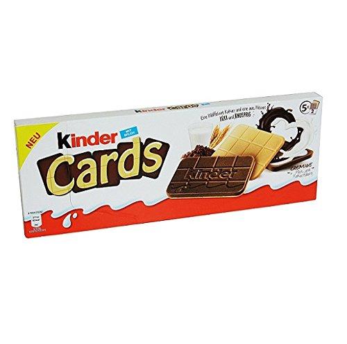 Kinder New Cards Galletas Wafer con Leche y Chocolate Blanco 128g. 5 Paquetes: Ferrero: Amazon.es: Electrónica
