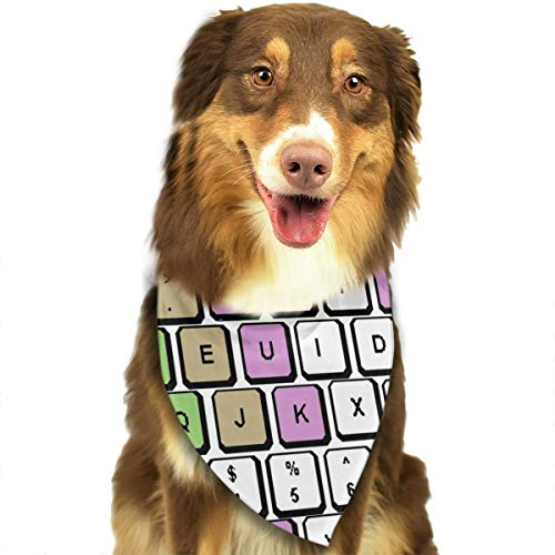 FRTSFLEE Dog Bandana Computer Keyboard Pattern Scarves Accessories Decoration for Pet Cats and Puppies