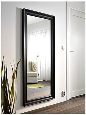 Ikea hemnes Espejo en Schwarzbraun; con massivholzrahmen; (74 x 165 cm): Amazon.es: Hogar