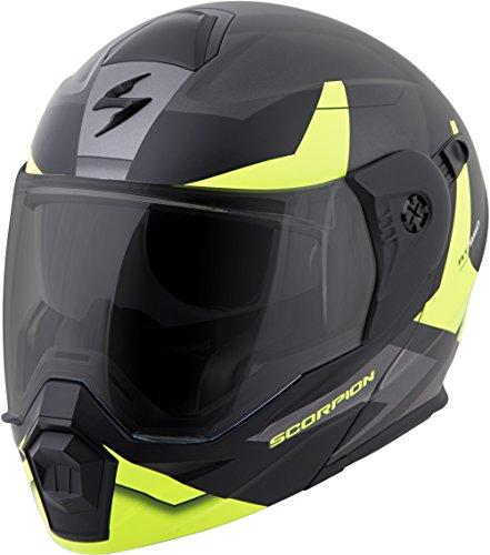 - ScorpionEXO Unisex-Adult Modular/Flip Up Adventure Touring Motorcycle Helmet (Hi-Viz, X-Large) (EXO-AT950 Neocon)