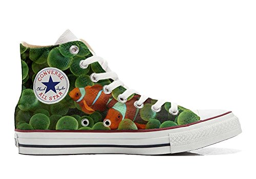Imprimés Hi Et Converse Star Des Chaussures Make Italien Artisanal Shoes Personnalisé Your produit All Poissons Unisex Sneaker Rouges Coutume n8qn0CFw