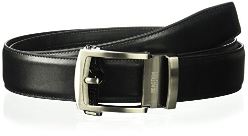 (Kenneth Cole Reaction Men's 1.3 in. Wide Click To Fit Belt, black, Medium )