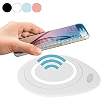 Geekercity Universal Qi Wireless Charger Charging Pad Station Mat for Samsung Galaxy S6 Active S7 S6 Edge / Plus Note5 LG Google Nexus 4 5 6 7 LG DIL Nokia Lumia HTC Sony Motorola (White)