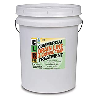 CLR PRO Commercial Drain Line and Grease Trap Treatment, Preventative Maintenance Microbial Formula, 5 Gallon Pail