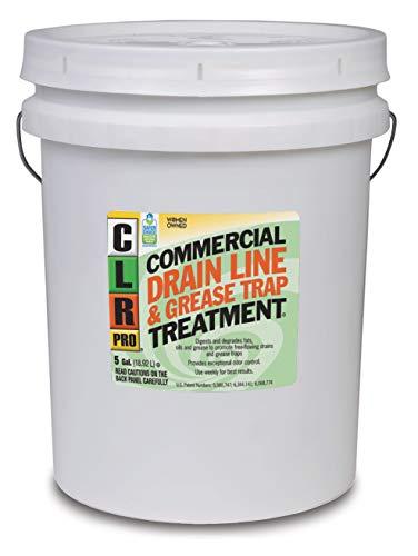 CLR PRO Commercial Drain Line and Grease Trap Treatment, Preventative Maintenance Microbial Formula, 5 Gallon Pail